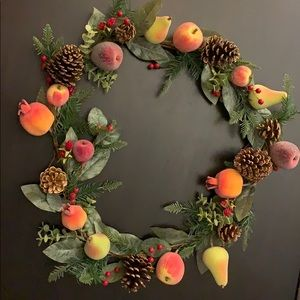 Sugared fruit and leaves 5 foot garland